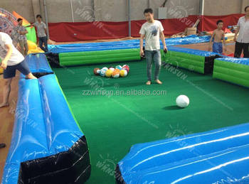 inflatable human pool table,giant inflatable billiards table