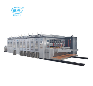 HUALI BEST DISCOUNT Fully Automatic 4 Colors Corrugated Flexo Printer Slotter Die Cutter Stacker Machine in China low price