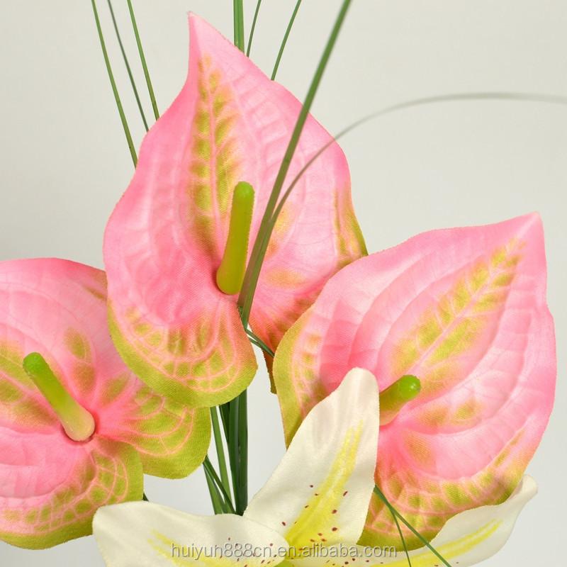 Pas cher d coration de mariage fleur artificielle mini for Commande bouquet de fleurs pas cher