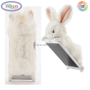 F310 Newest Wonderful Bunny Stuffed Animal Phone Cover White Rabbit Cell Phone Case Animal