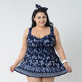 4XL 8XL Plus Size Swimwear Large Size One Piece High Neck Swimsuit with a High Waist
