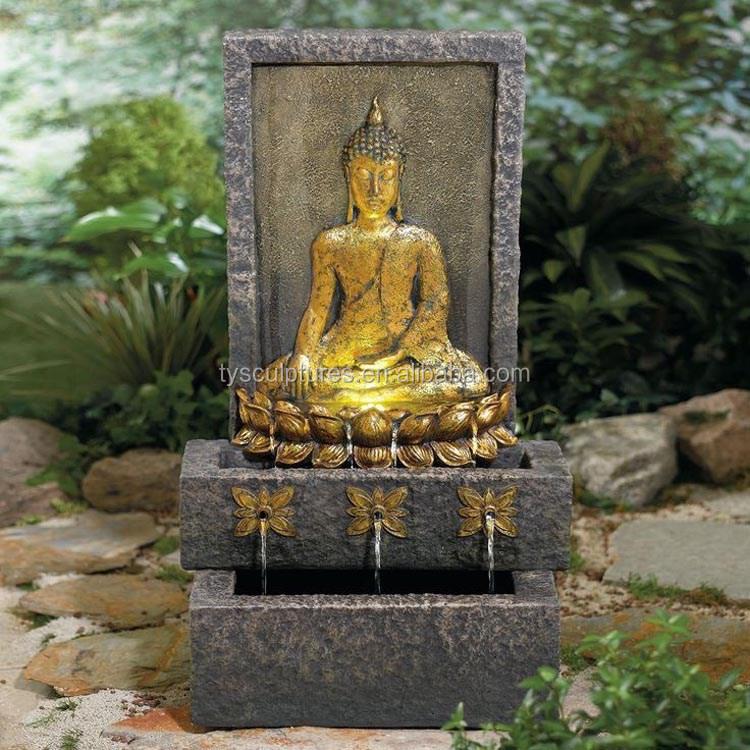 fuente de agua para el jardn de estatuas de buda de piedra de pared al aire