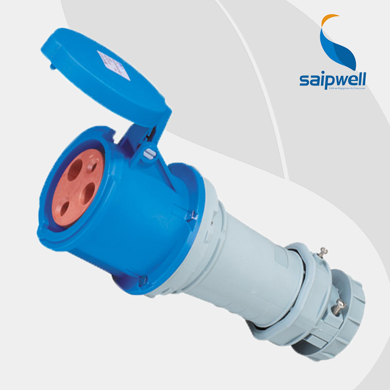 Wholesale Saipwell 3pin socket connector 2P+E(3P) 230V 63A IP44 waterproof EN / IEC 60309-2 ac power socket female SP1237