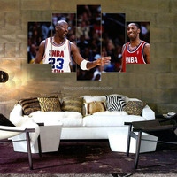 HD 5 Panel Basketball Star /Sports Star Wall Picture Painting Home Decor Canvas Prints For gym Modern Printing