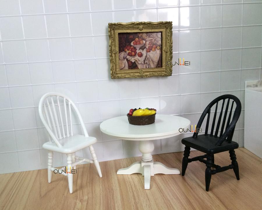 poppenhuis miniatuur meubels speelgoed woonkamer meubels houten
