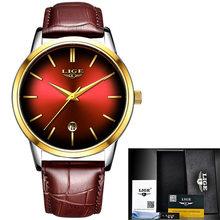 Женские кварцевые часы LIGE, модные водонепроницаемые часы из нержавеющей стали для девушек(Китай)
