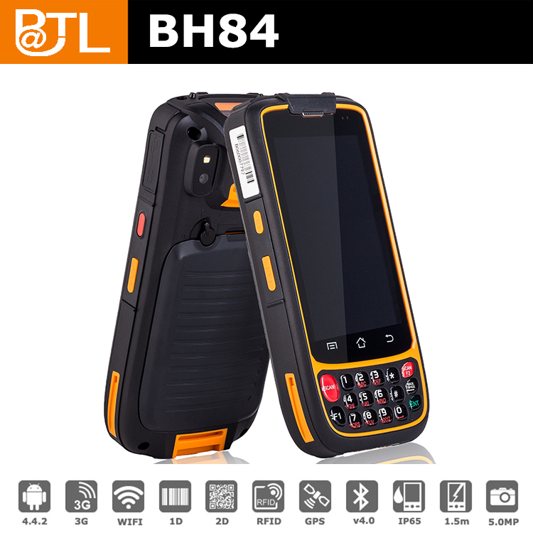 WZ1483 gps gprs rfid reader pocket pda with BATL BH84 Android 4.4.2 LF RFID RS232/TTL/RS485