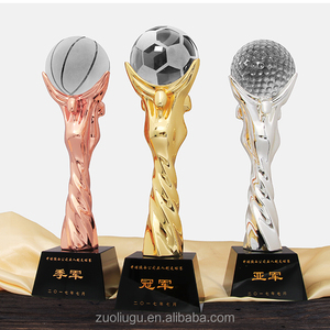 High Quality Customize Sport Soccer Crystal Metal Football Trophy award sports Trophies