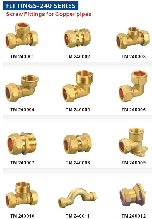 Copper pipe fitting of screw type buy screw fittings for for Copper water pipe fittings types