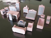 Pink Antique designs Wooden Dollhouse Miniature Furniture
