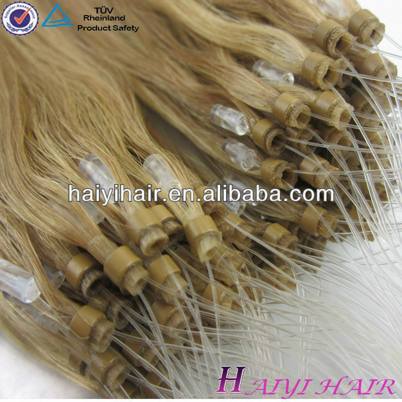 Fashion style nail hair extension Micro loop ring hair extension remy hair