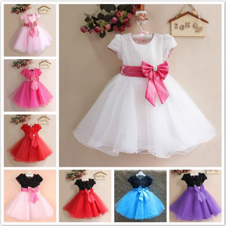 4227eaa13d2c Walson princess dress pink color cotton lace dress latest children ...