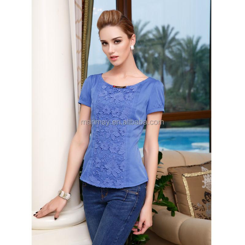 ae295b3d4ff9 Wholesale women clothes european ladies office wear style latest blouse  ladies lace shirt design for women