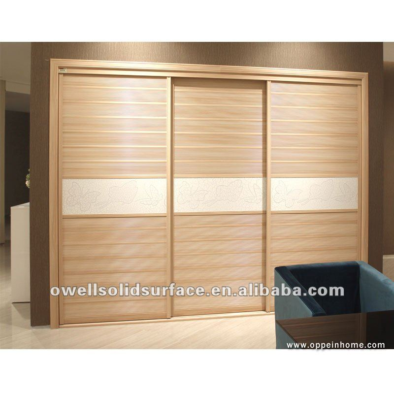 moderno oppein muebles del dormitorio 3 puertas correderas de madera ...