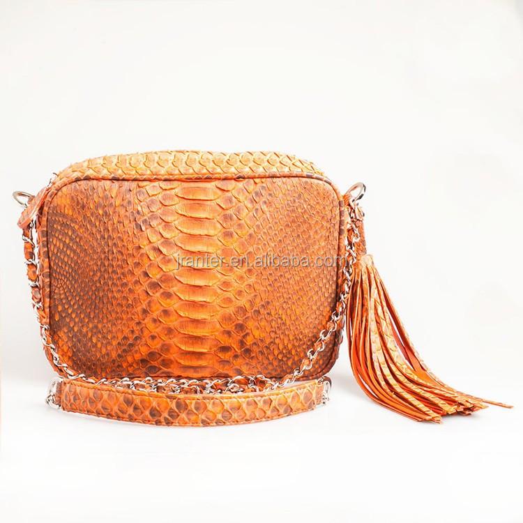1ec5e0e470141 Exotic Skin Handbags Snake Skin Bag Natural Genuine Python Snake Leather  Crossbody Shoulder Bag Purse