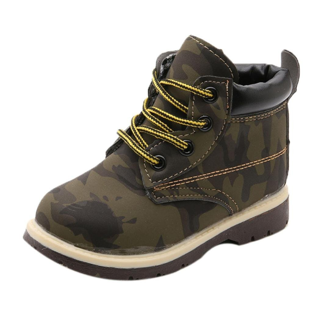 b3ecb5bd2bac Get Quotations · Ec Fashion Kid Boot Martin Rubber Boots Student Boy Girl  Army Style Martin Boot (2