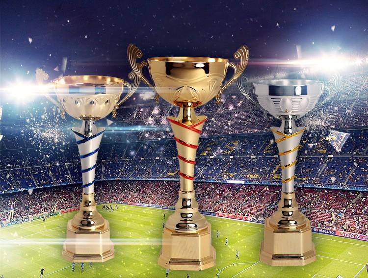RBTT 2016 del Trofeo di Calcio della Resina Fan Souvenir galvanica Mestieri Modello Partita di Calcio di Calcio della Tazza di Replica I Fan del Regalo Possono Essere Personalizzati,45cm