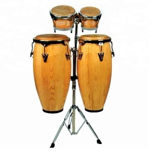 High Grade Bongo & Conga Trommel Set <span class=keywords><strong>Holz</strong></span> Percussion