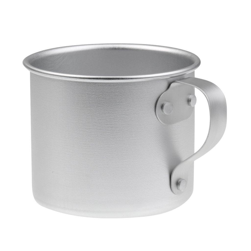 Jili Online 0.3L 10.6oz Durable Portable Aluminum Coffee Tea Mug Cup - Camping/ Travel/ Outdoor