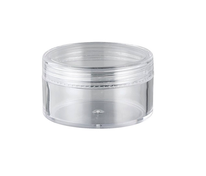 Cosmetische plastic containers 3g 5g 10g 15g 20g 30g Clear crystal PS jar met clear schroefdop voor sample gezichtscrème