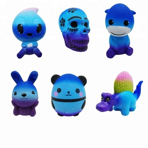 Hot selling safety cute starry animal kids squishy slow rising toys for 2018
