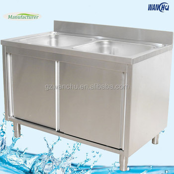 Commercial Double Bowl Kitchen Sink Base Cabinet/stainless Steel ...