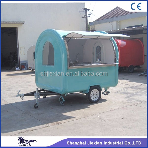 2017 Shanghai JX-FR220J China classical type fast food mobile kitchen trailer