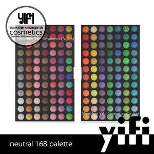 Dubai wholesale market glitter eyeshadow 168 colors empty eyeshadow palette