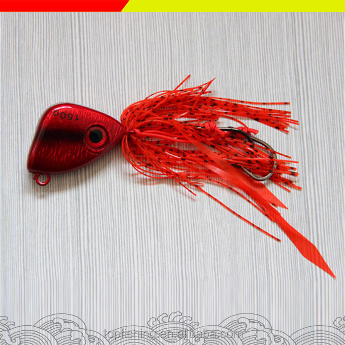 Jig head and skirt metal Lead fishing lure saltwater jigging lure