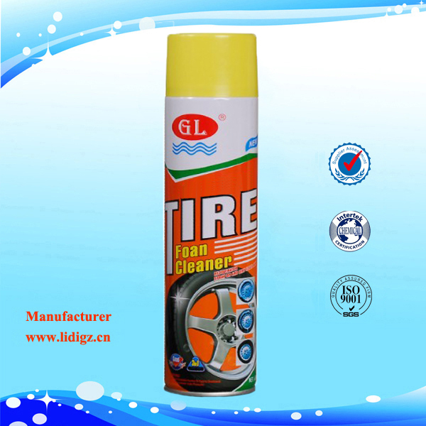 650ml Aerosol Tire Foam Cleaner, Car Wax Spray Polish Shine