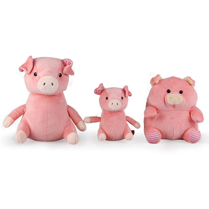 ICTI audited factory plush stuffed pig toy& soft pink pig