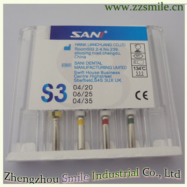 Sani S3 Niti Endo File for Root Canal Preparation