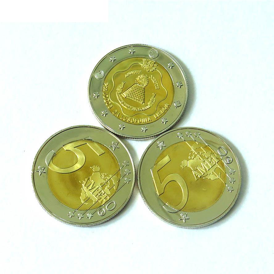 Custom uitdaging coin indian oude munten Bi Metalen Nieuwe Wereld Orde $5 Amero Alex Jones Ronde voor verkoop