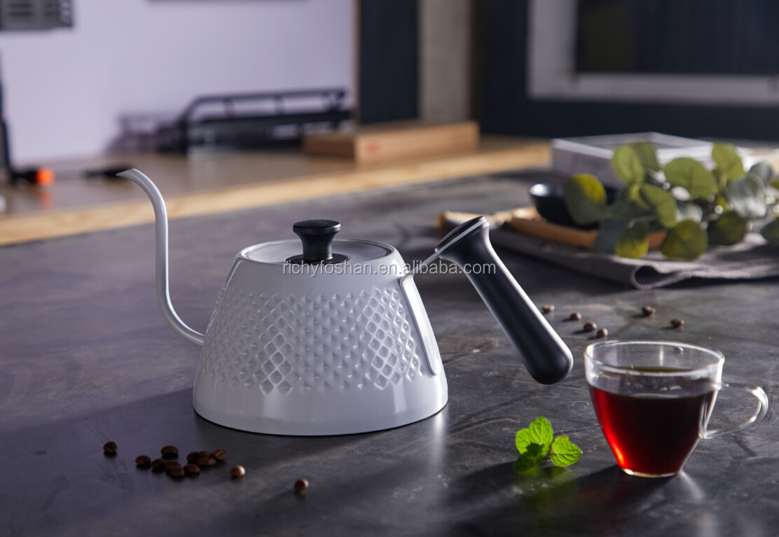 1L stainless steel pour over hand tea coffee drip kettle gooseneck kettle