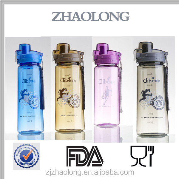 2016 Colorful Light Custom made Good capacity polycarbonate water bottle
