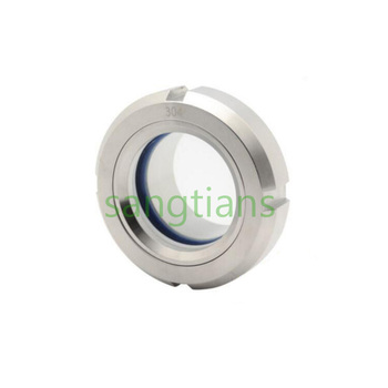 316L Stainless steel hygenic flange union welding connection sight glass supplier