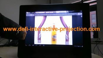 22 inch transparent lcd display box advertising player by excellent price