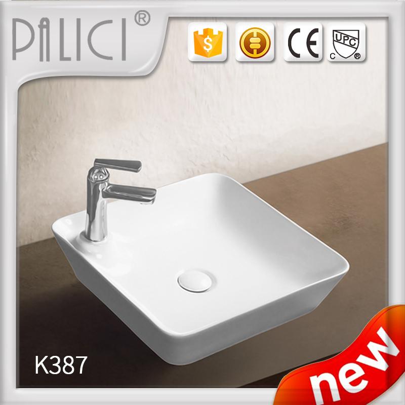 China Small Size Color Ceramic Bathroom Art Hand Wash