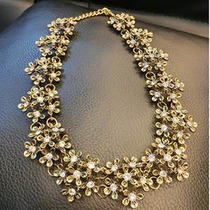 Hot Sell Vintage Biohemia Crystal Chokers Necklaces For Women Dinner Party Jewely