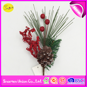 Other Home Decor Wholesale Pinecone Artificial Berry Top Sale Items Price