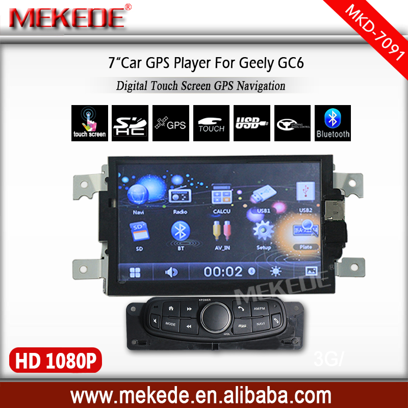 Promotions 7inch car multimedia player for Geely GC6 with gps navigator Support wholesale prices