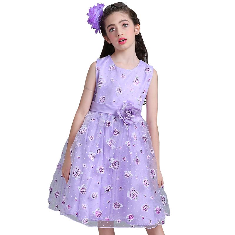 Vestido de la flor en los marcos para la boda partido niñas vestido ...