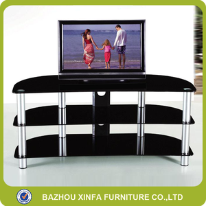 Fancy new classic design glass LCD TV stand living room furniture