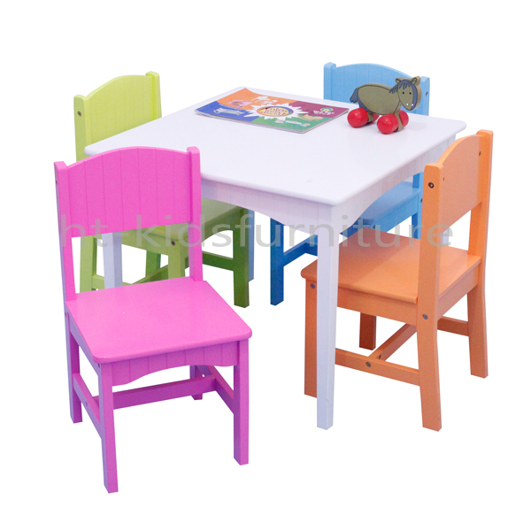 Htpr008 64x40x70cm E1 Mdf Easy Assembly Princess Style Kids Study – Girls Table and Chair