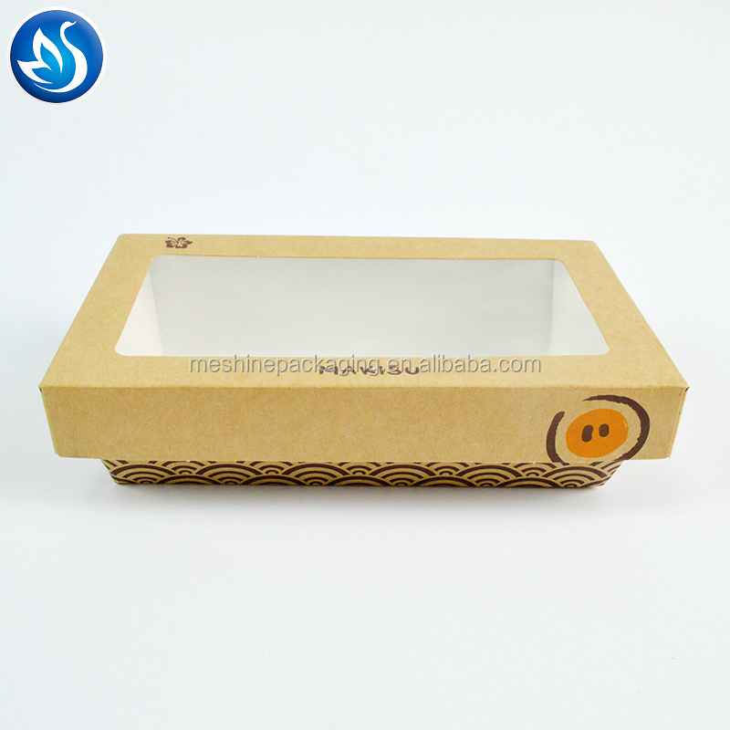 FDA black take out sushi box paper,Eco-friendly and food grade paper disposable snack box,sushi to go box