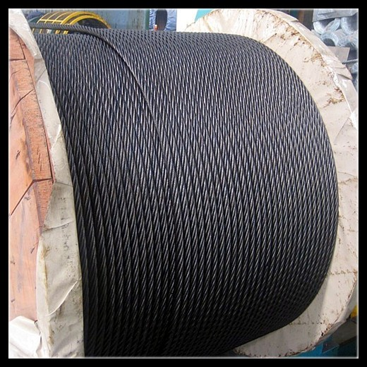 ungalvanized and galvanized steel wire rope for crane and lifting equipment