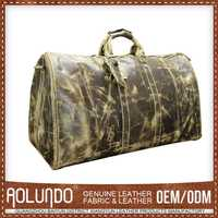 Unique Design Custom Tag Leather Travel Man Bag