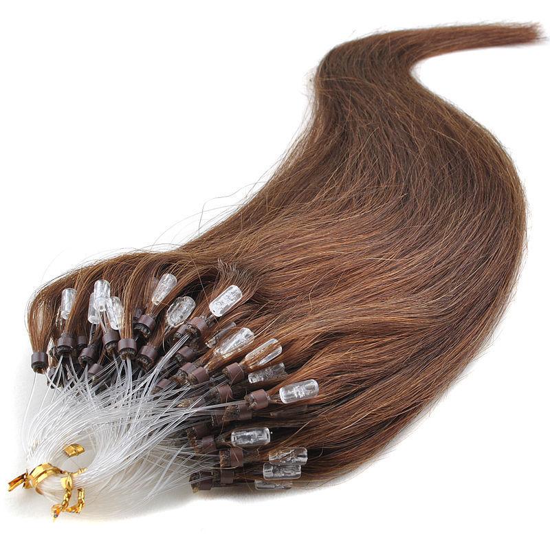 182024 26 Micro Loop Ringbeads Hair Extensions Human Natural