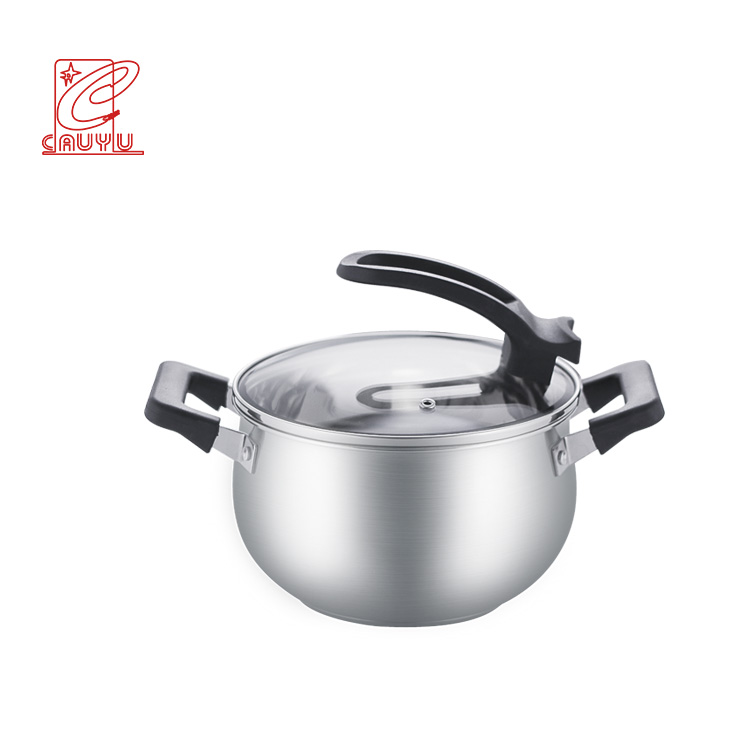 5Pcs Belly Shape Stainless Steel Cookware Sets Kitchenware Cooking Set