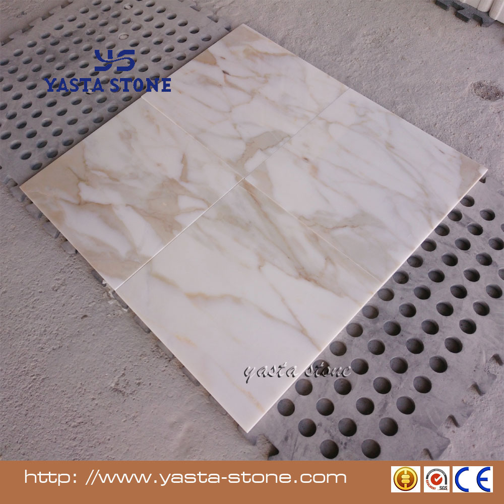 China manufacturer laminated 16x16 calacatta gold marble for 16x16 floor tiles price